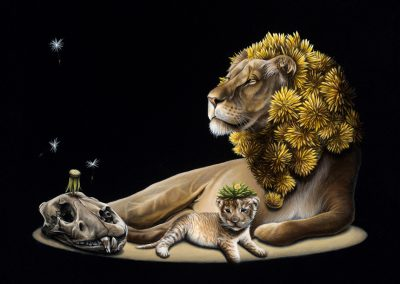 "Dandy Lions: 12""x16"" 2012 (Sold)"