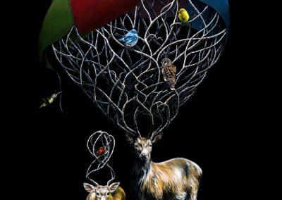 "Elementary, Deer Watson: 16""x20"" 2010 (Sold)"